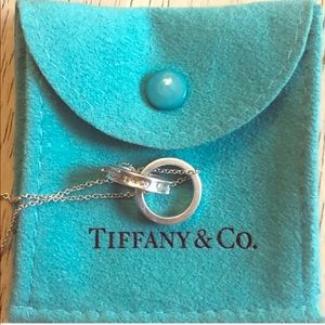 Tiffany and co interlocking necklace authentic